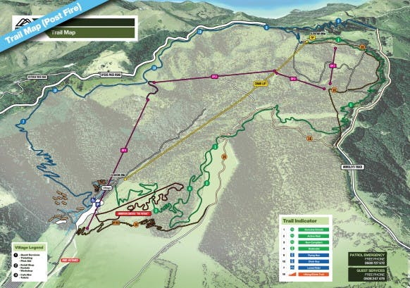 Trail Map Post Fire