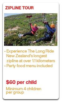 Kids Parties Christchurch Adventure Park Party Package Activity Options Zipline Tour