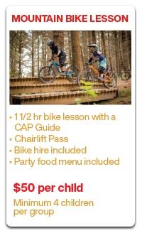 Kids Parties Christchurch Adventure Park Party Package Activity Options Mountain Bike Lesson